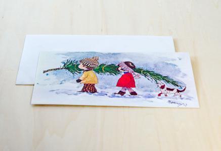 北欧で見つけた、クリスマスカード(未使用)/ ビンテージ / S0059