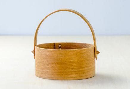 北欧で使われていた、木製の小物入れ / ビンテージ / S0064