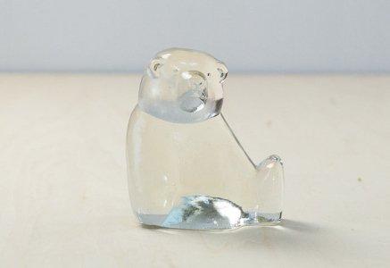 北欧で使われていた、熊のクリスタルの置物(オブジェ)/ビンテージ/I0109