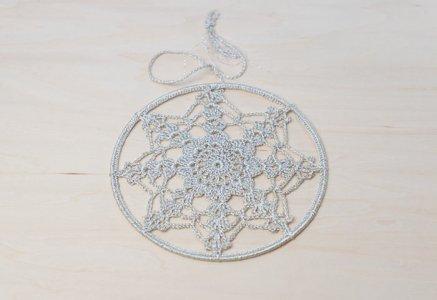 北欧で使われていた、モチーフ編みの飾り/ビンテージ/I0111