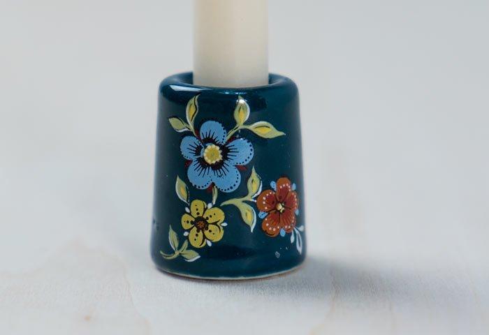 北欧で使われていた、陶器のキャンドルスタンド/ドイツ/ビンテージ/I0112  画像02