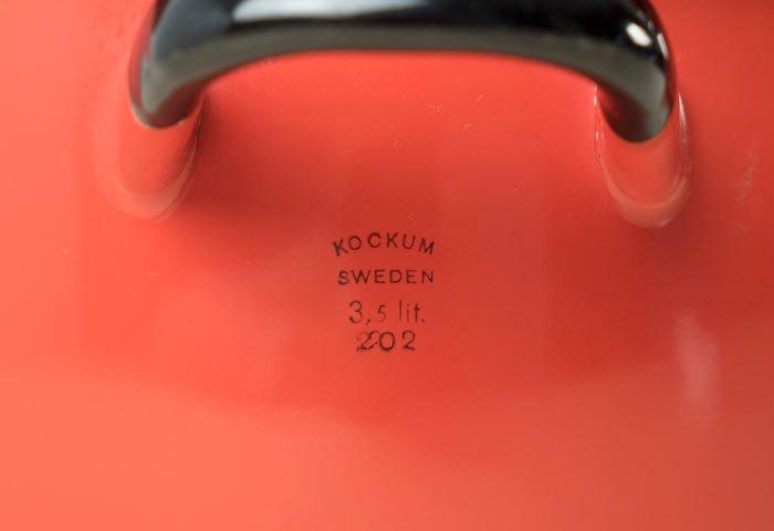 KOCKUMS(コクムス)/ホーロー両手鍋(赤)/スウェーデン/ビンテージ/K0076  画像04