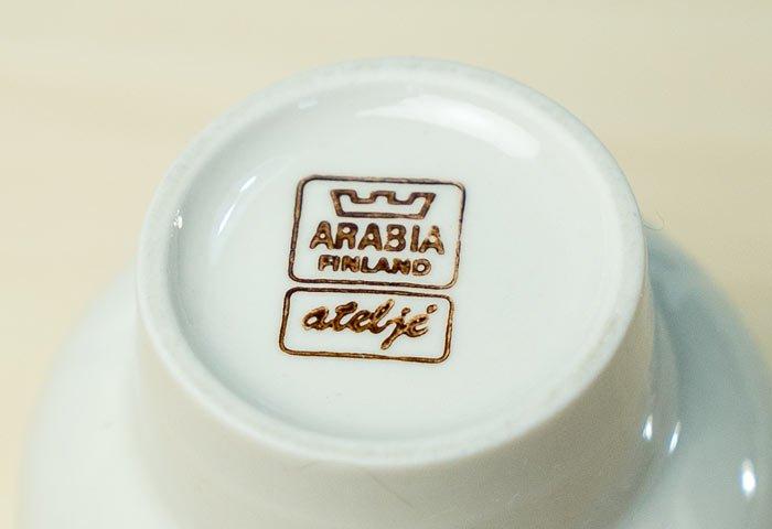 ARABIA(アラビア)/atelje - 磁器のキャンドルホルダー/フィンランド/ビンテージ/I0115  画像03