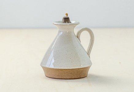 北欧で使われていた、陶器のオイルランプ/ ビンテージ / S0066