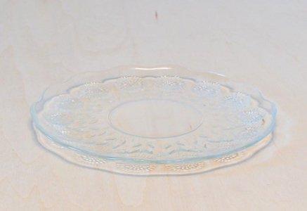北欧で使われていた、たんぽぽ柄のガラスのプレート/ビンテージ/T0339