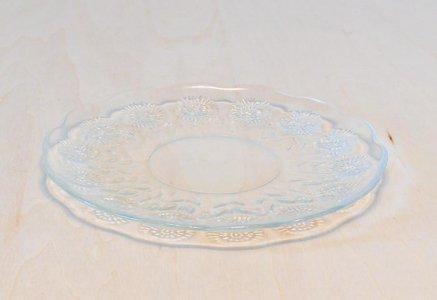 北欧で使われていた、たんぽぽ柄のガラスのプレート/ビンテージ/T0340