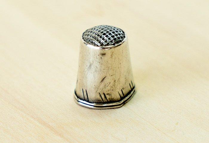 北欧で使われていた、ビンテージの指貫(シンブル) / ビンテージ / S0076  画像02