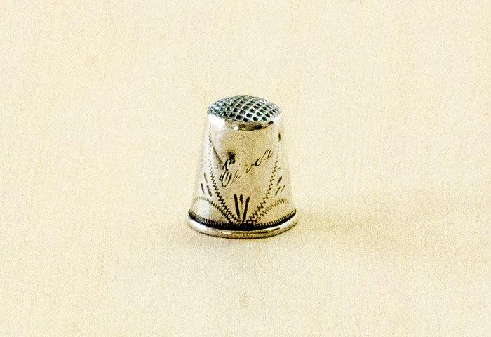 北欧で使われていた、ビンテージの指貫(シンブル) / ビンテージ / S0078 画像