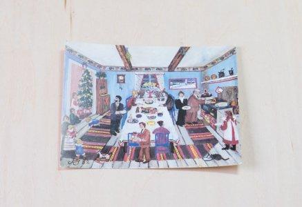 北欧で見つけた、クリスマスカード(未使用)/ ビンテージ / S0080