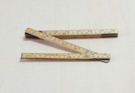 北欧で使われていた、ビンテージのスウェーデン製折りたたみの物差し/ ビンテージ / S0082
