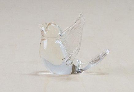 北欧で使われていた、ガラスの鳥の置物(オブジェ) / スウェーデン / ビンテージ / I0125