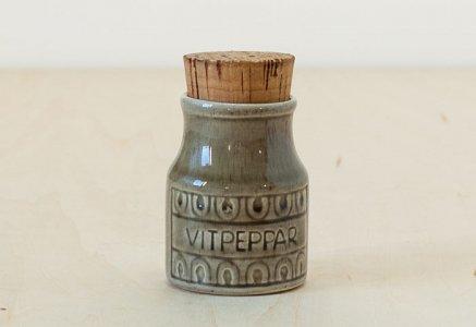 北欧で使われていた、陶器の調味料入れ / ビンテージ / K0106