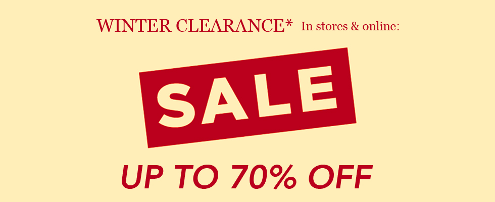 2020 WINTER CLEARANCE SALE