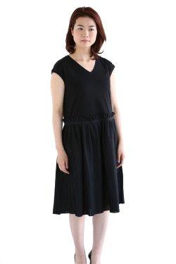 <img class='new_mark_img1' src='https://img.shop-pro.jp/img/new/icons20.gif' style='border:none;display:inline;margin:0px;padding:0px;width:auto;' />beautiful people(ビューティフルピープル) high guage cotton pleats dress コットンプリーツワンピース【1615304012】
