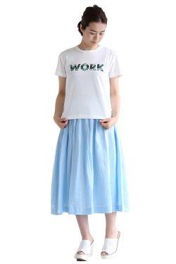 MUVEIL WORK(ミュベールワーク) カモフラWORKプリントTシャツ【MW61UTS014】white