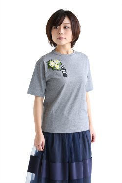 MUVEIL WORK(ミュベールワーク) ワッペンTシャツ【MW64UTS014】mouse gray
