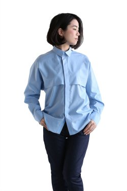 beautiful people(ビューティフルピープル) cotton silk lawn flared yoke shirt【1725106004】