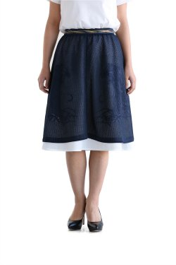 Coohem(コーヘン) EMBOSS EYELET TIGER SKIRT【10-172-018】NAVY