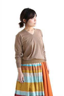 muller of yoshiokubo(ミュラーオブヨシオクボ) Raffia pleats knit【MLS17807】brown