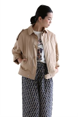 beautiful people(ビューティフルピープル) finx cotton satin french flight jacket【1715102503】beige
