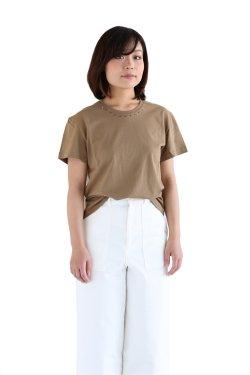 <img class='new_mark_img1' src='https://img.shop-pro.jp/img/new/icons20.gif' style='border:none;display:inline;margin:0px;padding:0px;width:auto;' />muller of yoshiokubo(ミュラーオブヨシオクボ) Prickle T-shirts ピックルTシャツ【MLS17118】beige