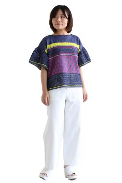 Coohem(コーヘン) SUMMER LACY KNIT PULLOVER【10-172-038】NAVY