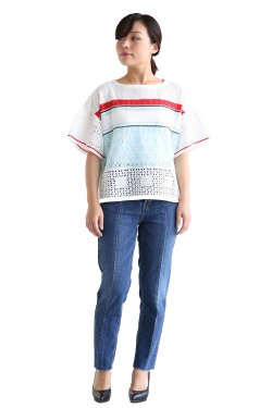 Coohem(コーヘン) SUMMER LACY KNIT PULLOVER【10-172-038】WHITE