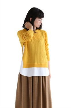ADAWAS(アダワス)  ADAWAS BASIC SHIRT KNIT RIB【ADWS-701-05】GOLD
