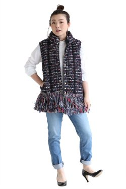 COOHEM(コーヘン) BLAZER TWEED DOWN VEST【10-174-010】