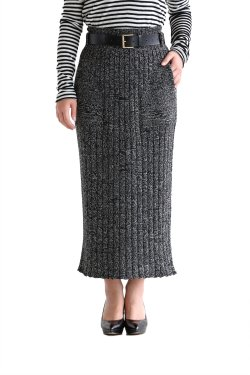 unfil(アンフィル) merino wool ribbed skirt【OSFL-UW119】