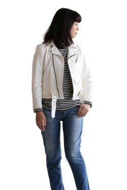 beautiful people(ビューティフルピープル) deer leather kids riders jacket【1735402408】
