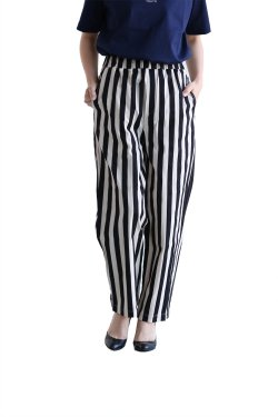 unfil(アンフィル) striped cotton-dobby trousers【OESP-UW105】