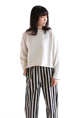 unfil(アンフィル) cotton terry long sleeve top【OESP-UW112】