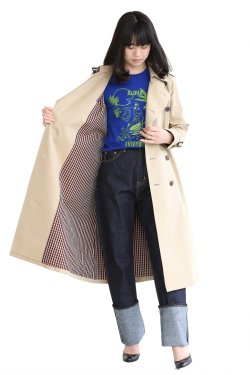 beautiful people(ビューティフルピープル) cotton twill long trench coat【1815103411】