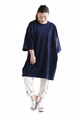 beautiful people(ビューティフルピープル) cotton jersey big T-dress navy