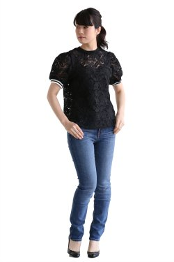 BORDERS at BALCONY(ボーダーズアットバルコニー) LACE TOP【BD1811-3N-21】BLACK
