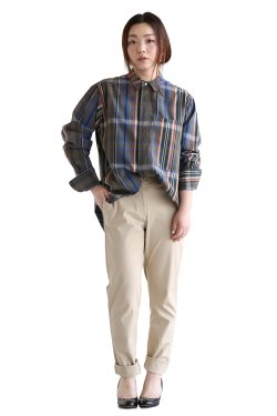 unfil(アンフィル) checked cotton-weather flyfront shirt【OESP-UW133】