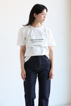 beautiful people(ビューティフルピープル) soft jersey big name T-shirt ecru