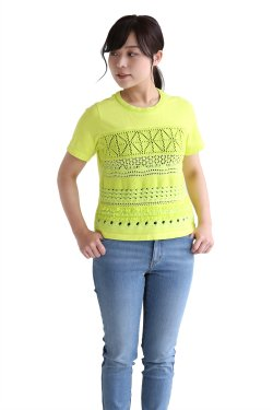 COOHEM(コーヘン) COTTON GRADATION Tシャツ【10-182-039】YELLOW