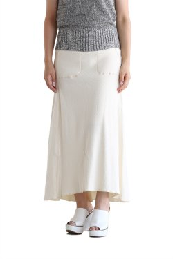 unfil(アンフィル) cotton-thermal mesh midi skirt【OEFL-UW125】
