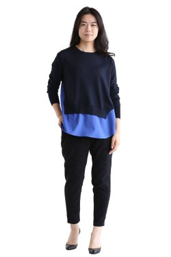 ADAWAS(アダワス) BASIC SHIRT KNIT【ADWS-801-05】MIDNIGHT