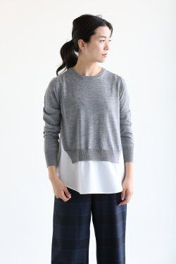 ADAWAS(アダワス) BASIC SHIRT KNIT【ADWS-801-05】CLOUD