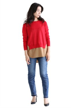 ADAWAS(アダワス) BASIC SHIRT KNIT【ADWS-801-05】RED