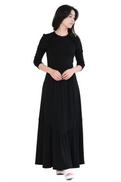 BORDERS at BALCONY(ボーダーズアットバルコニー) JERSEY MAXI DRESS