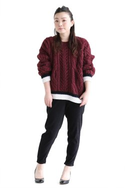 COOHEM(コーヘン)  SUPER BIG ARAN P/O   BORDEAUX