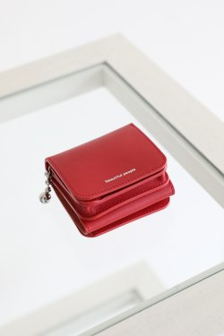 beautiful people(ビューティフルピープル) ball chain compact wallet  tomato