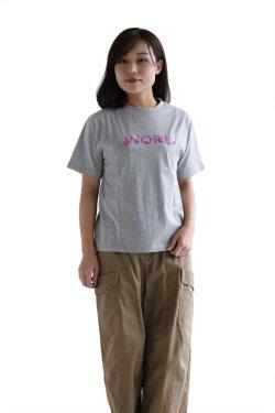 MUVEIL WORK(ミュベールワーク) WORKプリントTシャツ  gray