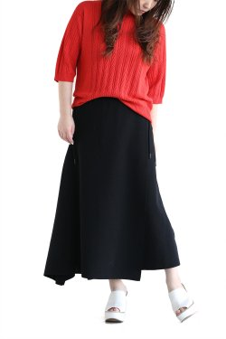 unfil(アンフィル) high twist cotton milanoribbed-knit skirt