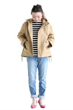 MACPHEE(マカフィ) COTTON DOUBLE CLOTH パーカーブルゾン