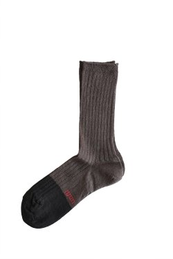 unfil(アンフィル) french linen thin socks  ebony